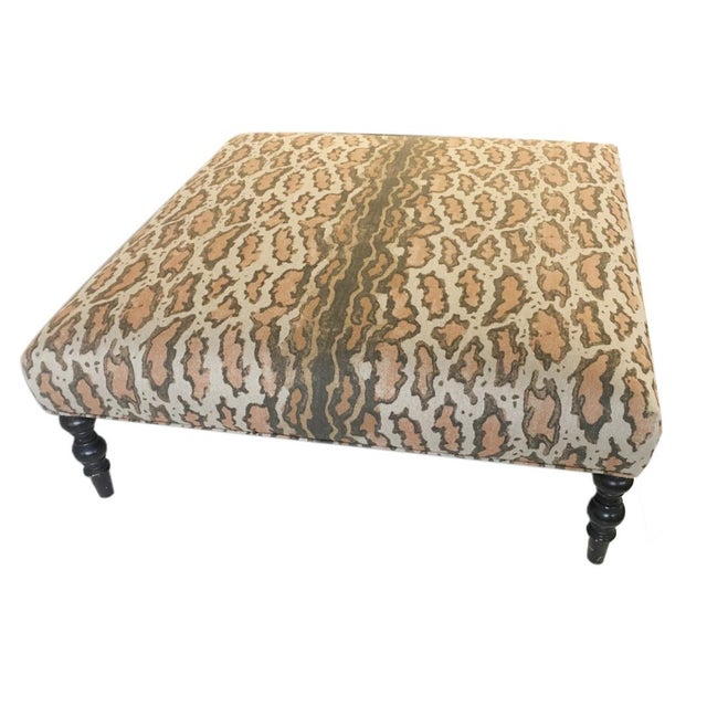 Contemporary Contemporary Upholstered Coffee Table For Sale - Image 3 of 5
