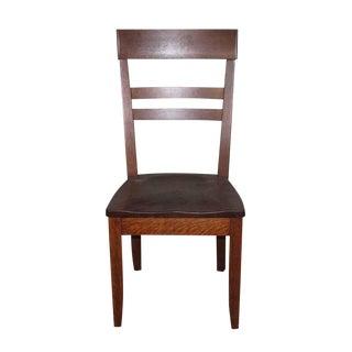 Antique Tiger Oak High Back Chair For Sale