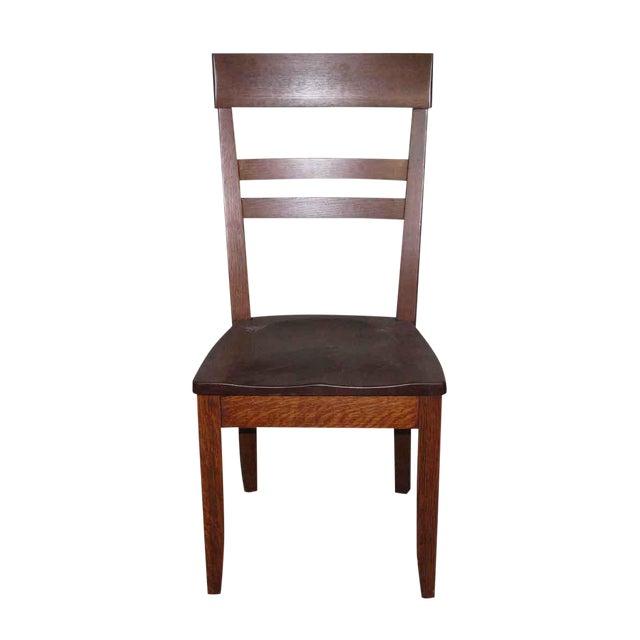 Antique Tiger Oak High Back Chair - Antique Tiger Oak High Back Chair Chairish
