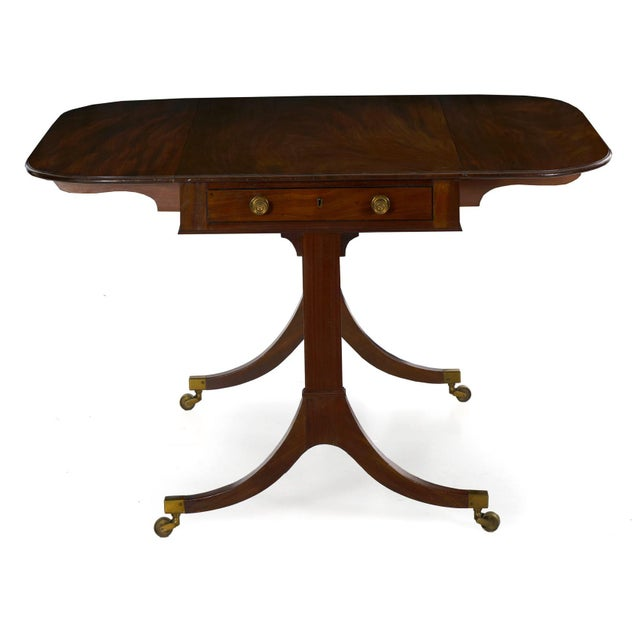 Traditional 19th Century English Regency Antique Mahogany Sofa Accent Table, Circa 1815 For Sale - Image 3 of 13