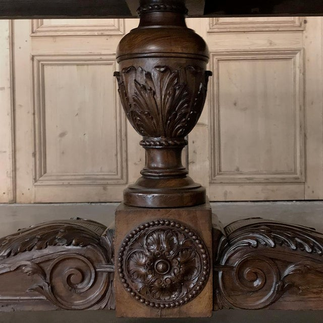 Italian 19th Century Italian Walnut Renaissance Table ~ Desk For Sale - Image 3 of 13