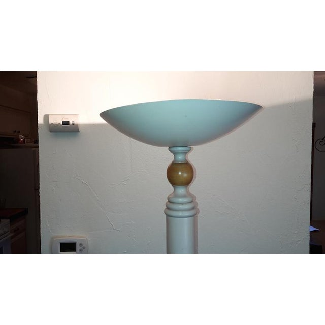 Grange Grange French Country White Floor Lamp with White Top & White Base For Sale - Image 4 of 7
