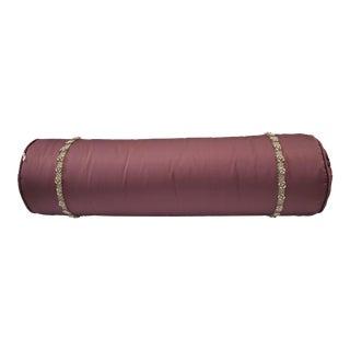 21st Century Modern Purple Neck-roll Pillow For Sale