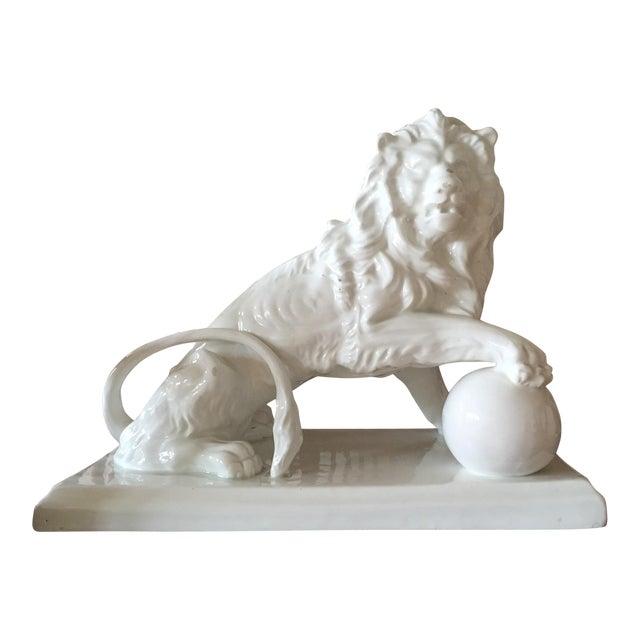 Large Vintage Spanish Ceramic Lion - Image 1 of 6