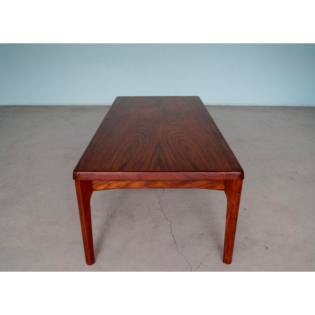 Brown Mid-Century Danish Modern Rosewood Coffee Table For Sale - Image 8 of 12