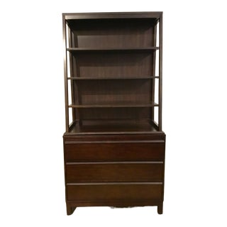 Modern Dark Walnut Finished Wood Shelf/Storage Unit For Sale