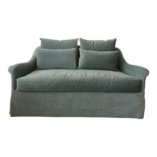 "Modern Bench Made ""Emma"" Loveseat Sofa For Sale"