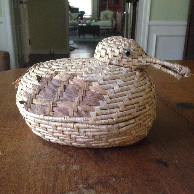 Vintage Natural Wicker/ Straw Bird Basket - Image 2 of 11