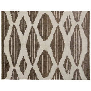 Contemporary Moroccan Rug with Modern Geometric Design, 10'4x13'2 Preview