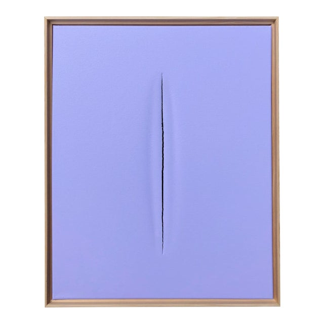 Purple Slice Modern Art Painting by Tony Curry For Sale