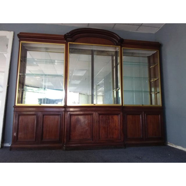 Antique Rosewood Shop Display Case With Miiror and Glass For Sale - Image 11 of 11
