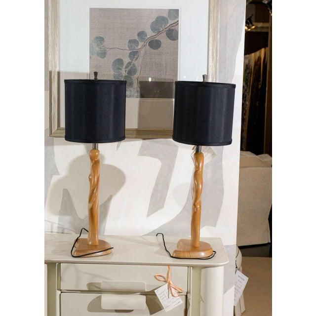 Modern Fantastic Sculptural Pair of Heifetz Lamps For Sale - Image 3 of 10