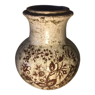 Antique Chinese Stoneware Pottery Vase For Sale