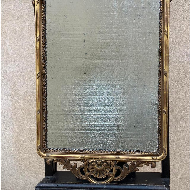 19th Century Italian Carved Giltwood Mirror For Sale - Image 9 of 11