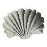 Image of Large Shell Pillow - Sage Velvet For Sale