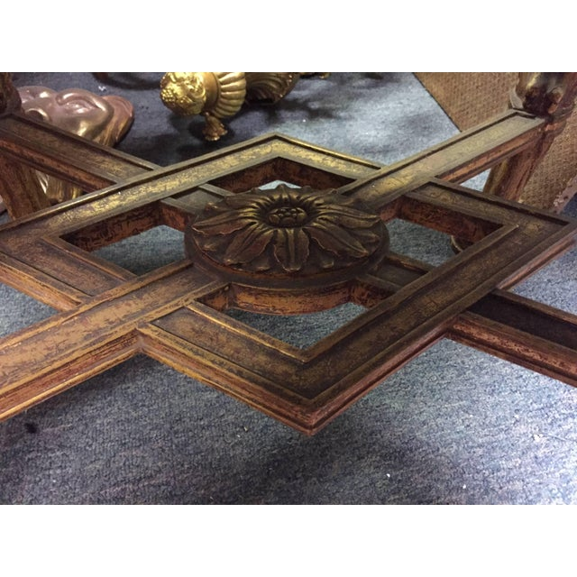 Wood Regence Style Giltwood and Marble Oval Low Table For Sale - Image 7 of 8