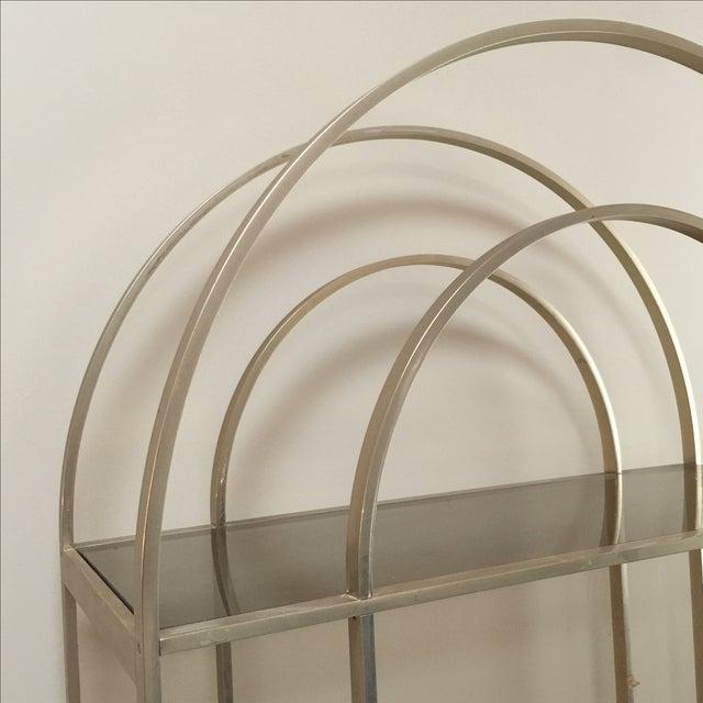 mid century art deco etagere shelf unit chairish. Black Bedroom Furniture Sets. Home Design Ideas