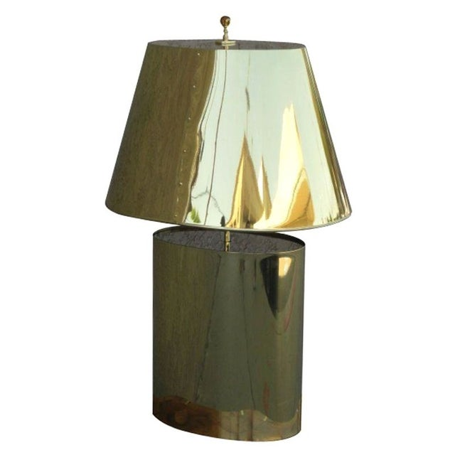 Curtis Jere Style Brass Table Lamp For Sale