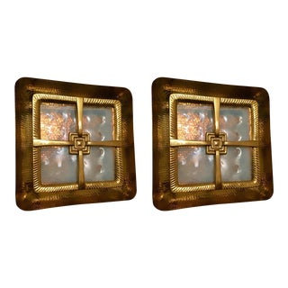 Global Views Brass Sconces - a Pair