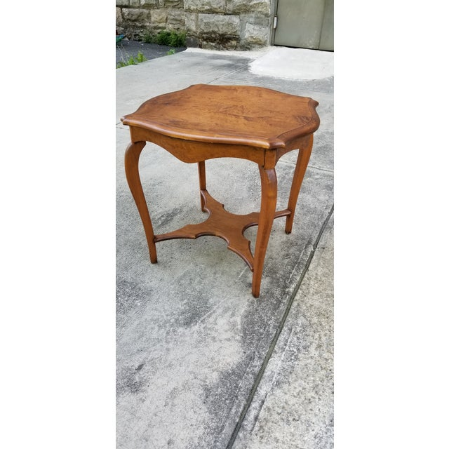 Antique Serpentine Side Table For Sale - Image 4 of 12