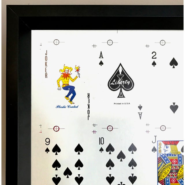 Framed Uncut Set of Playing Cards - Image 3 of 4