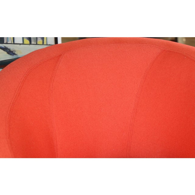 Textile Vladimir Kagan for Weiman Chairs With Large Ottomans With Labels- A Pair For Sale - Image 7 of 12