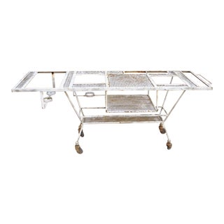 20th Century Industrial Steampunk Rolling Bar Cart For Sale