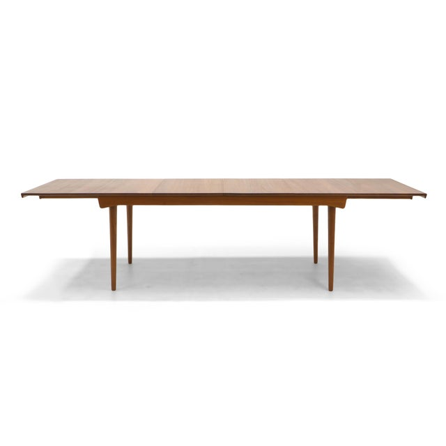 Finn Juhl Teak Dining Table, Expandable with Two Leaves, Exceptional Condition - Image 11 of 11