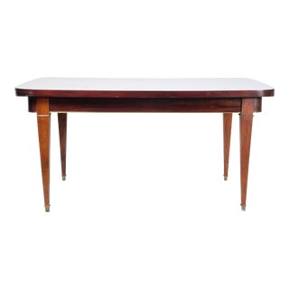 Mahogany Empire Hidden Leaf Dining Table For Sale