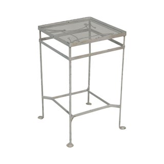 Salterini Vintage Wrought Iron Garden Side Table For Sale