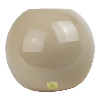 1970s Mid-Century Modern Beige Haeger Globe Vase