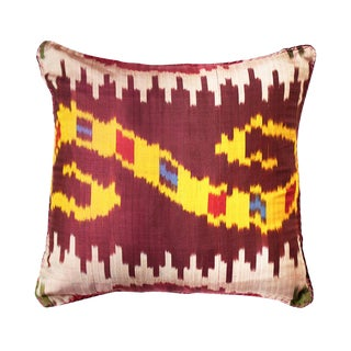 Multi Plum Ikat Small II For Sale