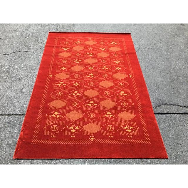 Design Plus Consignment Gallery has a prado epos red wool area belgium rug
