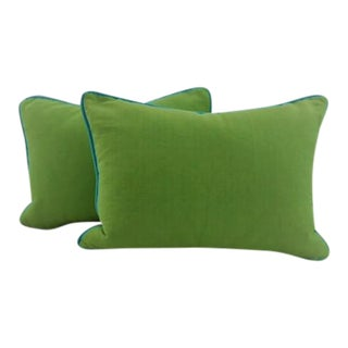 Custom Made Lime Green Pillows - A Pair