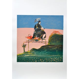 Luigi Rincicotti, I Dodici Mesi, March Lithograph For Sale