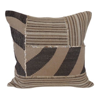 Artisanal Patchwork Woven Decorative Pillows With Sequins Adornments For Sale