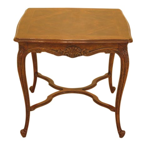 Drexel - Heritage French Style Walnut Occasional Table For Sale