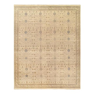 Pasargad Ivory Fine Hand Knotted Khotan Rug-10' X 14' For Sale