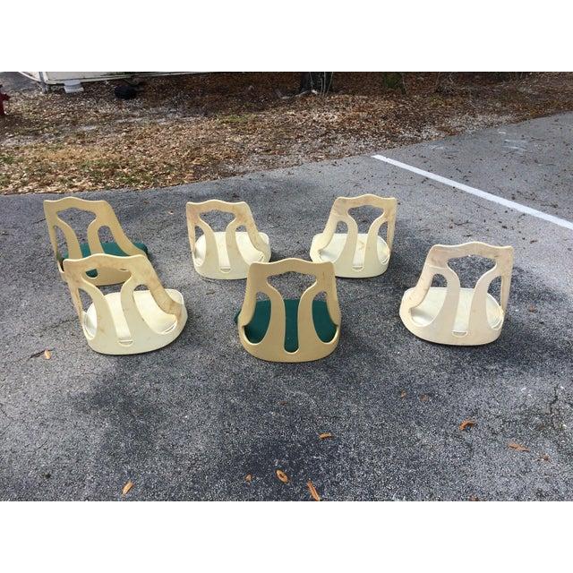 ChromeCraft Mid-Century Modern Acrylic Chair Seats- Set of 6 - Image 6 of 7