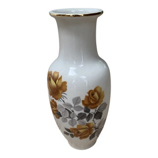 Vintage Floral Porcelain Bouquet Vase For Sale