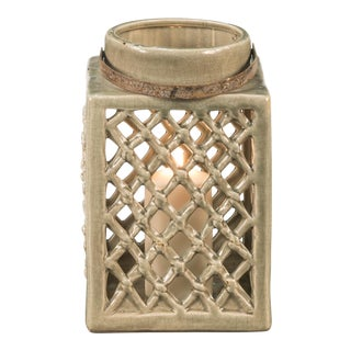 Sarreid Ltd. Medium Ceramic Lantern For Sale