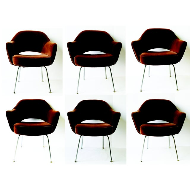 6 Eero Saarinen Executive Chairs for Knoll - From Ibm Offices For Sale - Image 9 of 9