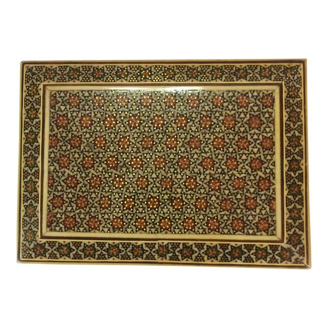 Persian Wood Inlay Box - Image 1 of 10