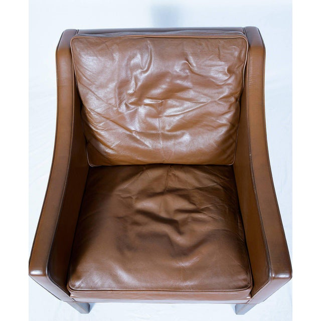 Wood Børge Mogensen Model #2207 Leather Lounge Chair For Sale - Image 7 of 10