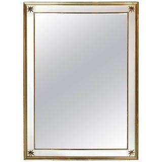 Renzo Rutili Brass Clad Star Mirror For Sale