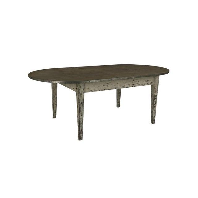 Sarreid Ltd. Christine Rounded Oak Dining Table For Sale - Image 4 of 4