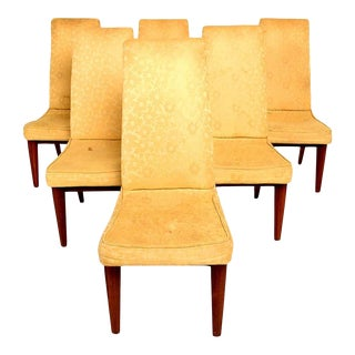 1950s Walnut Dining Chairs by Maurice Bailey for Monteverdi & Young - Set of 6 For Sale
