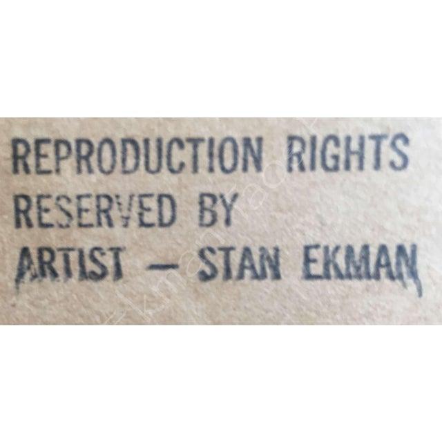 Rare Stanley Ekman the Taos Pueblos Original Watercolor - Image 10 of 11