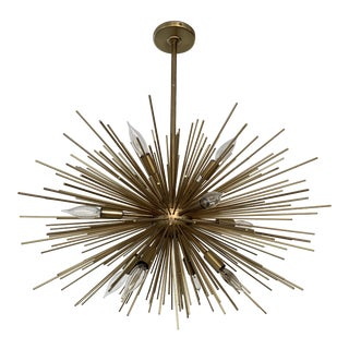 Arteriors Zanadoo Chandelier in Antique Brass Finish For Sale