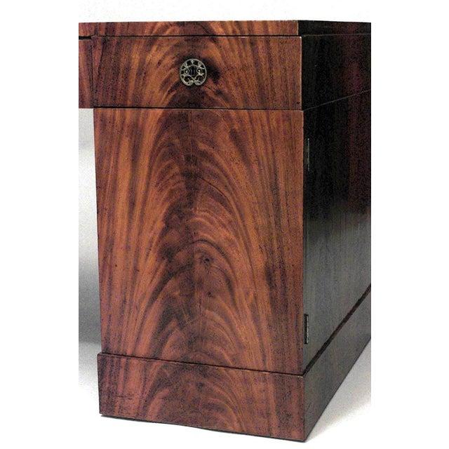 Biedermeier German Biedermeier Mahogany Kneehole Desk For Sale - Image 3 of 6